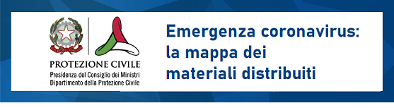 Emergenza coronavirus: materiali distribuiti